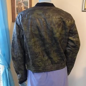 Jolt Jackets & Coats - NWT Camo Leather Crop Jacket
